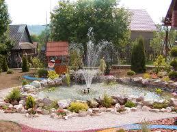 garden design fountain native