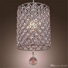 single head contemporary crystal drop pendant light in cylinder style crystal chandelier ceiling light bedroom lamp bar light chandelier vintage light