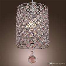 single head contemporary crystal drop pendant light in cylinder style crystal chandelier ceiling light bedroom lamp bar light chandelier vintage light