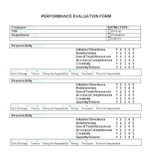 Appraisal Sheet Unique Free Performance Review Template General Manager Employee Form