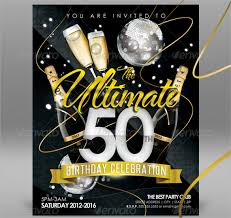 50th birthday invitations free printable 45 50th birthday invitation templates free sample
