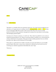How To Write A Past Due Notice Carecap 31 89 Day Past Due Payment Letter Generic