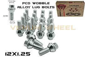 Amazon Com 20 Pc Zinc Pcd Wobble Alloy Wheel Lug Bolts 22mm Shank 12x1 25 Thread Pitch 10 9 Grade Fits On 5x114 Whee Alloy Wheel Wobble Wheel Accessories