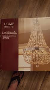 home decorators collection 6 light chrome crystal chandelier for
