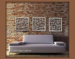 metal wall art decor abstract contemporary modern sculpture industrial art
