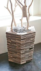amazing modern flower pot rustic wood container 2 custom by rushton l c ceramic design white small plastic hanging metal