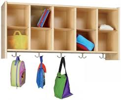 Cubby Wall Organizer With Coat Rack Home Caycare Cubbies Eco WallMount Cubby Coat Rack by TotMate 69