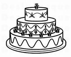 Wedding Cake Vector Etsy