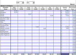 Tracking Expenses In Excel Expense Track Summarized Weekly Expense Report By Day Week