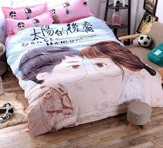 home textile famous drama descendants of the sun bedding set cotton bed for 2