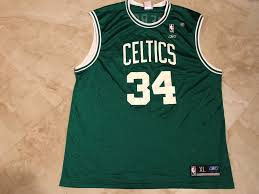 Reebok Throwback Jersey Size Chart Details About Paul Pierce 34 Boston Celtics Throwback Jersey Xl Green The Truth Reebok Nba