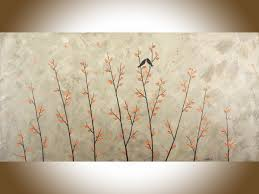 the kiss by qiqigallery 48 x 24 original modern abstract landscape wall painting office