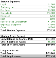 Business Start Up Expenses Estimating Realistic Startup Costs Small Business Plan