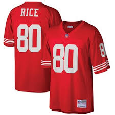 San Red Retired Jerry Pro Francisco Line Jersey 49ers Player Nfl Rice -