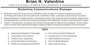 Communications Manager Resume Project Manager Resume Sample