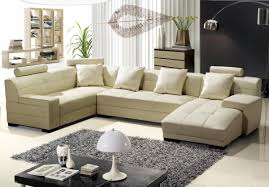 Modern sectional sofas Black Leather Living Spaces 3334b Modern Beige Leather Sectional Sofa