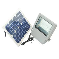 solar goes green solar integrated led gray outdoor flood light with remote control and timer sgg f108 2t the home depot