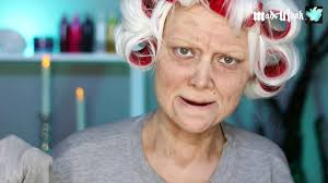 old lady lex old age makeup tutorial no prosthetics no latex video dailymotion