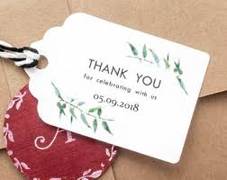 thank you tags for wedding favors wedding favor tags etsy