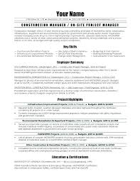 Project Manager Resume Summary Mesmerizing Construction Engineer Sample Resume Mesmerizing Construction Manager