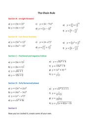 To practice using dierentiation formulas and rules (sum rule; Differentiation Chain Rule Teaching Resources Chain Rule Studying Math Math Methods