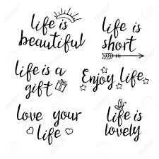 Lettrage Citations De La Vie Calligraphie Citation Inspirée De La Vie Pour Poster De Carte Postale Design Graphique La Vie Est Belle Courte
