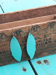 turquoise leather earrings diy with cricut