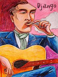 DJANGO REINHARDT PRINT poster gypsy jazz guitar selmer - django7X