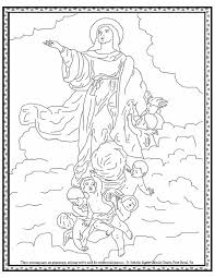 Small Picture Assumption of the Blessed Virgin Mary coloring page August