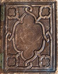 old vintage antiquarian leather book cover background stock photo 40372256