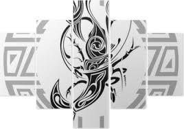 Znamení Raka Tetování Design