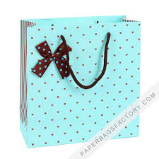 custom printed small ping white kraft paper bags gift bag with handles