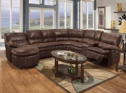 Microfiber Living Room Set Rustic Brown Microfiber Reclining Sectional W Baseball Stitching