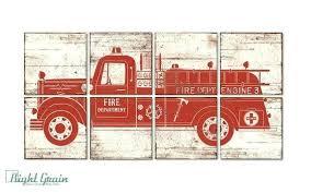 fire truck wall art fire truck bedroom decor our custom fire engine wall art is perfect