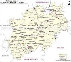 Beside a state profile, this page. Nordrhein Westfalen Railway Map