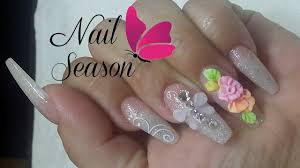 Acrylic Nails 3d Flower Easy Nail Art Tutorial for beginners 2016 ...