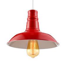 cute red barn style 1 light industrial led pendant lighting takeluckhome com