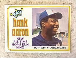 Hank Aaron 1974 Topps Atlanta Braves ...