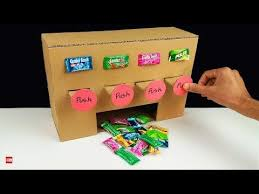 How To Make A Vending Machine Out Of A Shoebox Adorable How To Make MULTI Chewing Gum Vending Machine From Cardboard At Home