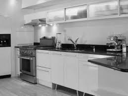 Black N White Kitchens Kitchen Off White Cabis On Distressed Wall Black Gray Walls Cabi