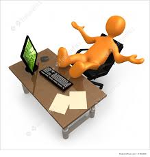 office relaxation. Laziness Concept Images: Person Relaxing With His Feet Up On Office Desk. Relaxation O