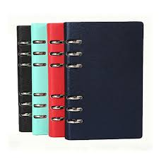 2019 a5 a6 leather cover spiral notebook ring binder index dividers card filler dot diary agenda planner accessories journal from amaryllier