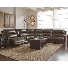 ashley dak 6 pc power reclining sectional