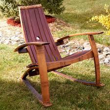 wine barrel stave adirondack rocking chair handmade from real wine barrel stave adirondack rocking chair handmade from real french oak wine barrels