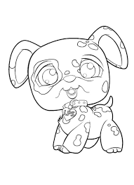 Littlest Pet Shop Dog Coloring Pages At Getdrawingscom Free For