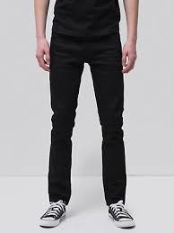 Nudie мужская приталенная <b>джинсы</b> | мрачной <b>Тим</b> сухой черный ...