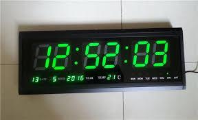 ht4819sm 8 aluminum large digital led wall clock big watch modern design digital clock led electronic calendar