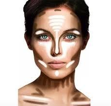 makeup tricks to slim your face