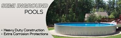 semiinground pools partial above ground pool90