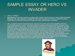significant explorers of the americas webquest ppt video online sample essay or hero vs invader